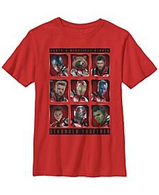 Marvel Big Boys Avengers Endgame Mightiest Heroes Stack Short Sleeve T-Shirt