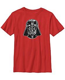 Star Wars Big Boy's Darth Vader Classic Black Helmet Short Sleeve T-Shirt