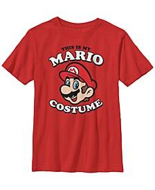 Nintendo Big Boy's Super Mario My Mario Costume Short Sleeve T-Shirt