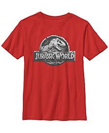 Jurassic World Two Big Boy's Return Stone Logo Short Sleeve T-Shirt
