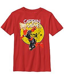 Marvel Big Boy's Captain Marvel Big Boy's Earth's Mightiest Hero Short Sleeve T-Shirt