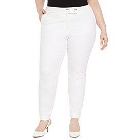 Plus Size Extended Tab Skinny Pants, Created for Macy's
