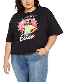 Trendy Plus Size Erica Stranger Things Cropped T-Shirt