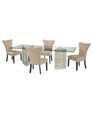 sophia dining room furniture 5 piece set 96 table and 4