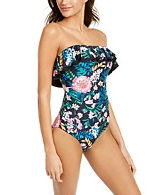 Ruffle Strapless One-Piece Swimsuit