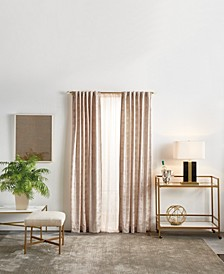 "Martha Stewart Monroe Metallic 84"" Backtab Curtain Panels"