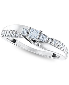 Certified Diamond Princess Engagement Ring 1/3 ct. t.w. in 14k White Gold