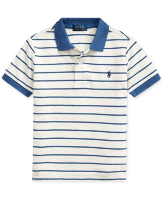 Boys Ralph Lauren Shirt Age 4 5 6 7 8 years Pale Blue Striped Small Pony New