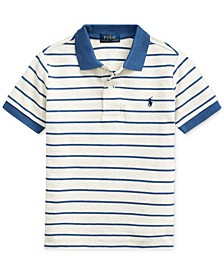 Little Boys Striped Cotton Mesh Polo Shirt