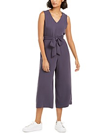 Soft-Crepe Belted Jumpsuit, Created for Macy's