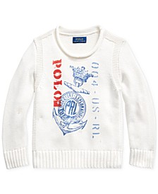 Little Boys Anchor-Print Cotton Sweater