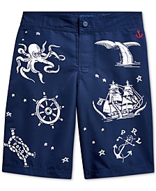 Big Boys Nautical-Print Swim Trunks