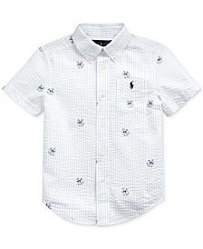 Toddler Boys Anchor-Print Cotton Seersucker Shirt