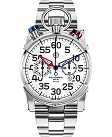 Men's Swiss Corsa Chronograph Stainless Steel Bracelet Watch 44mm