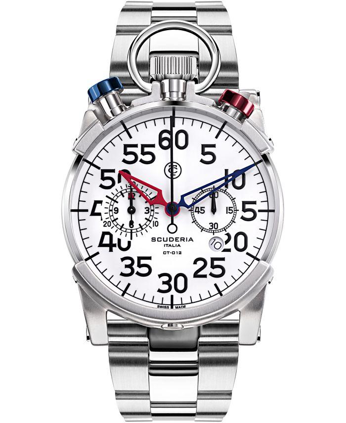 CT Scuderia - Men's Swiss Chronograph Corsa Stainless Steel Bracelet Watch 44mm