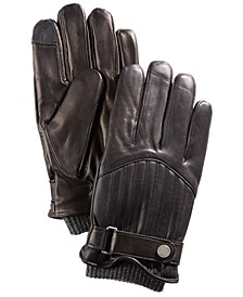 Men's Quilted Leather Racing Gloves