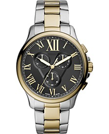 Men's Monty Chronograph Two-Tone Stainless Steel Bracelet Watch 44mm
