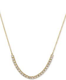 "Vanilla Diamond 18"" Statement Necklace (5/8 ct. t.w.) in 14k Gold"