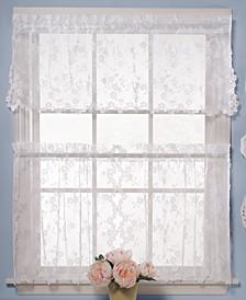 "CLOSEOUT! Pair of Petite Fleur 28"" x 36"" Cafe Curtains"