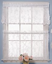 CLOSEOUT! Saturday Knight Petite Fleur Cafe Window Treatment Collection