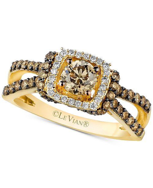 Le Vian Petite Earrings (1-1/6 ct. wt) Chocolate Diamonds in 14K Gold