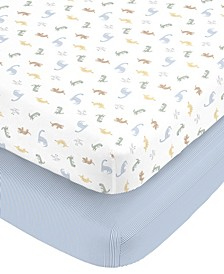 Cotton Sateen Fitted Crib Sheet 2-Pack