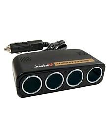 Wagan 4 Way Socket Car Charger Splitter Adapter