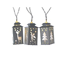 Battery-Operated 10-Light Mini Lantern LED Light Set