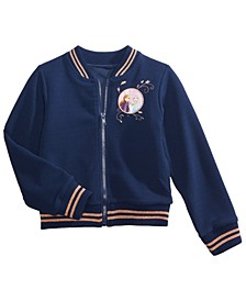 Little Girls Frozen II Elsa & Anna Bomber Jacket