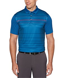 Men's Herringbone-Stripe Golf Polo