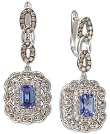 Blueberry Tanzanite (1-5/8 ct. t.w.) & Diamond (1-1/10 ct. t.w.) Drop Earrings in 14k White Gold