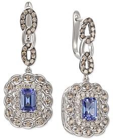 Blueberry Tanzanite (1-5/8 ct. t.w.) & Diamond (1-1/10 ct. t.w.) Drop Earrings in 14k White Gold