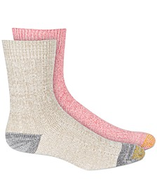 Women's 2-Pk. Ultra Soft Recycled Cable Crew Socks