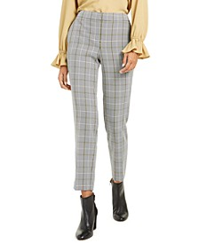 Plaid Straight-Leg Pants, Created For Macy's