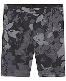 Men's Regular-Fit Stretch Floral-Print Shorts