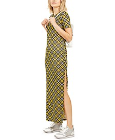 Petite Plaid T-Shirt Maxi Dress