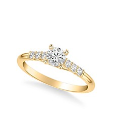 Diamond Engagement Ring (5/8 ct. t.w.) in 14k White, Yellow or Rose Gold