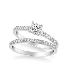Diamond Bridal Set (3/4 ct. t.w.) in 14k Yellow, White or Rose Gold