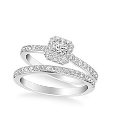 Diamond Halo Bridal Set (3/4 ct. t.w.) in 14k White, Rose or Yellow Gold