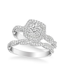 Diamond Halo Bridal Set (1 1/4 ct. t.w.) in 14k White, Yellow or Rose Gold