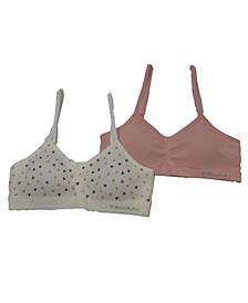 Tahari Big Girl Seamless 2-Pack Glitter Bra with Removable Cups