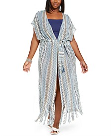 Plus Size Crochet Wander Cover-Up Kimono