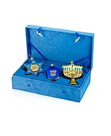 Noble Gems Hanukkah Ornament 3-Piece Set