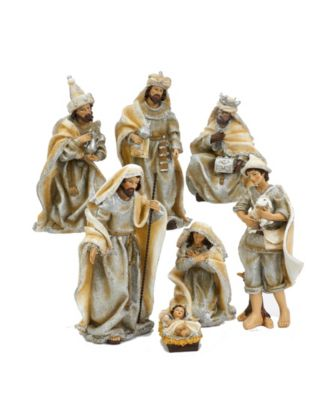 Kurt Adler 6-Inch Resin Nativity Set of 7 Pieces
