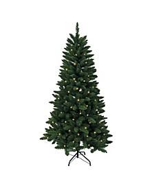 6-Foot Pre-Lit Green Pine Tree