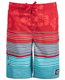 Big Boys Forever Summer Striped Swim Trunks