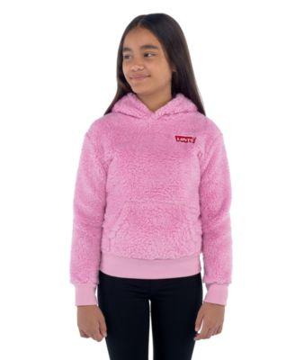 Big Girls Sherpa Fleece Pullover Hoodie