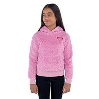 Levi's Embroidered Sherpa Big Kid Girls Pullover Hoodie (Lavender)