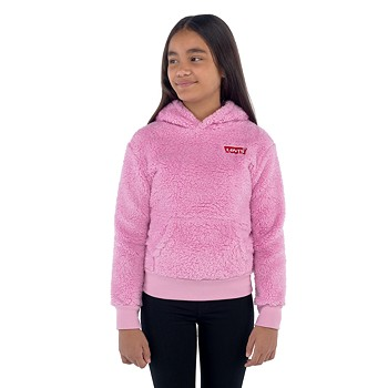 Levi's Embroidered Sherpa Big Girls 7-16 Pullover Hoodie (Lavender)