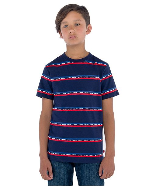 Levi's Toddler Boys Logo Stripe T-Shirt